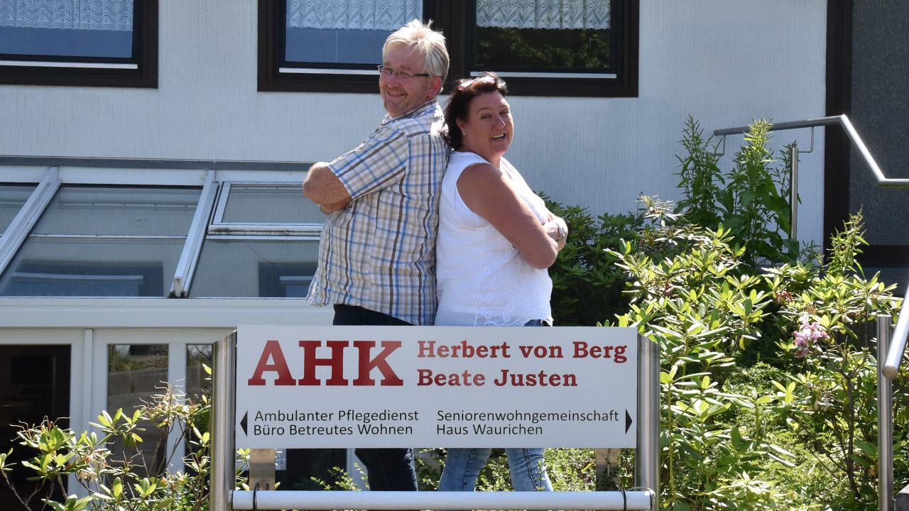 Herbert von Berg mit Beate Justen haben schon viel geschafft!